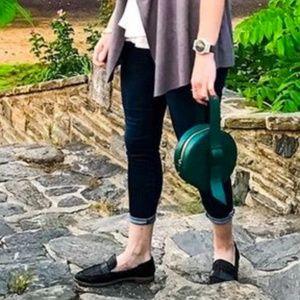 Halton 2 woven loafer black by Franco Sarto sz 9